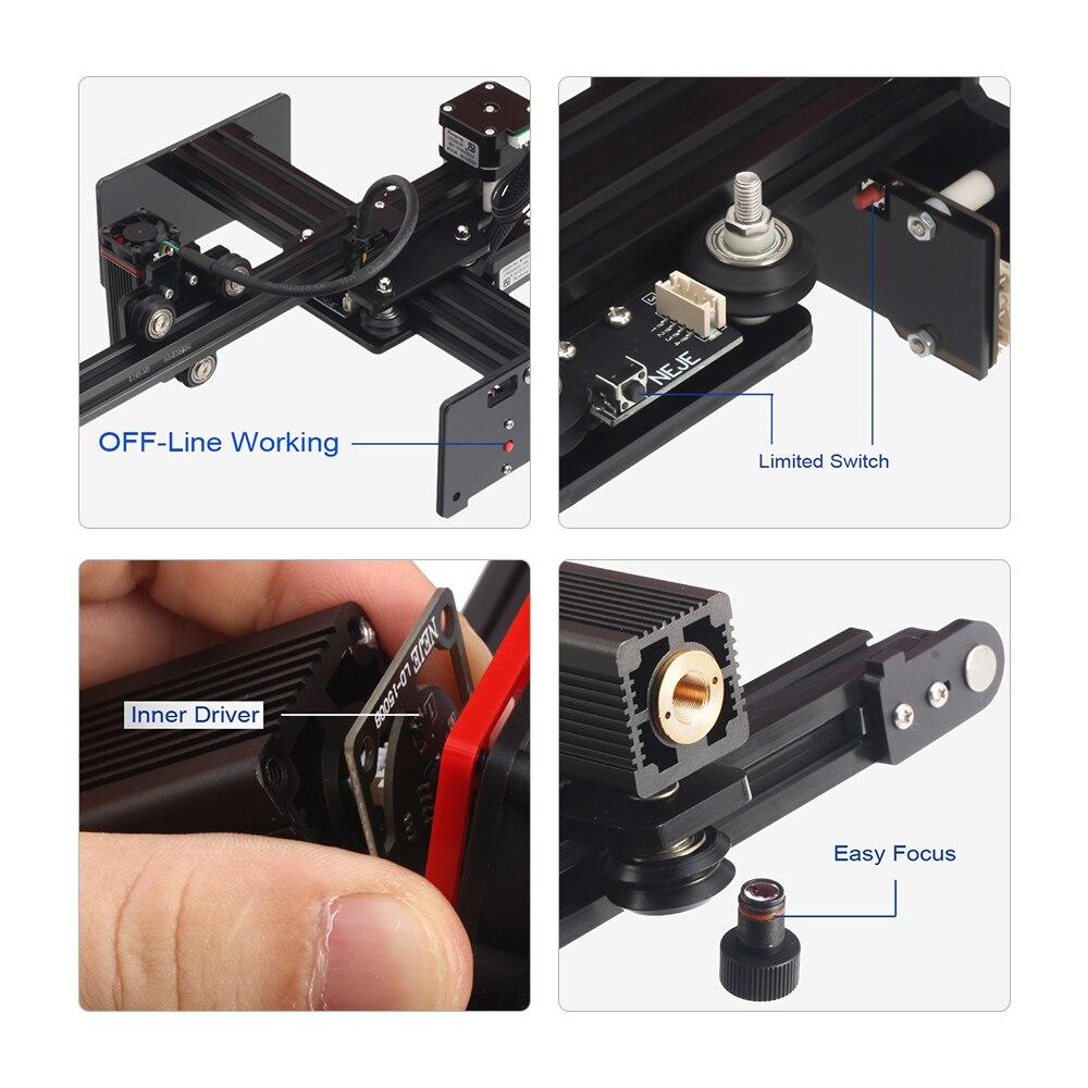 Impresora de grabado láser de escritorio, Mini máquina portátil para Metal y madera de tallado, 20000mW, bricolaje, novedad