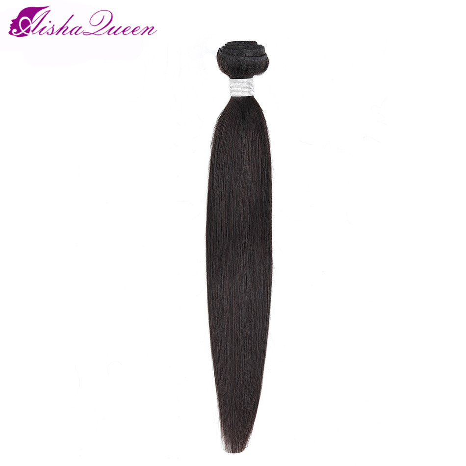 Aisha Queen Hair Brazilian Straight Human Hair 1 Piece Hair Weave Bundles 8-30inch Natural Color Free Shipping Non Remy Hair