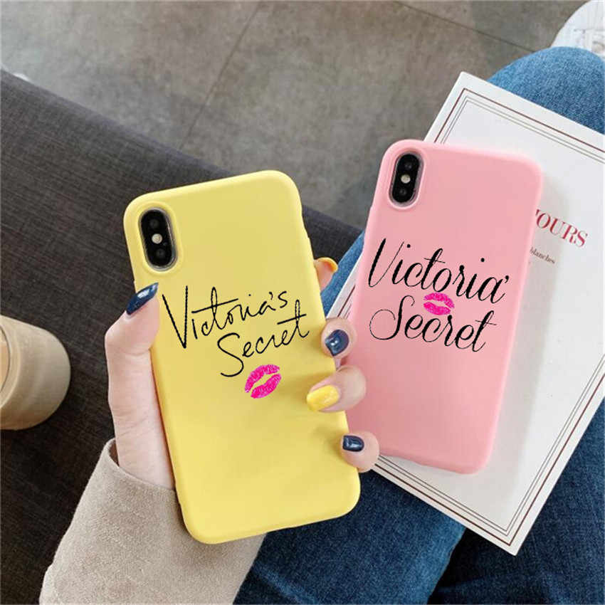 Veer ROZE Victoria Case Voor iPhone X XR Xs Max 8 7 6 Plus 6S 5S SE Siliconen telefoon Cover Soft Back Smart Coque
