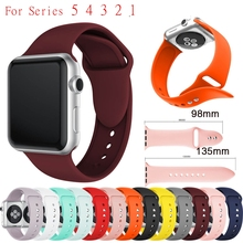 Sports Silicone Watch Band for Apple Watch Band Series 5 4 3 2 1 42mm 38mm 40mm 44mm Wrist Bracelet Strap for IWatch 4 40mm 44mm silicone double buckle sports watch straps for apple watch band 44mm 42mm 40mm38mm series 5 4 3 2 1 wrist bands for iwatch strap