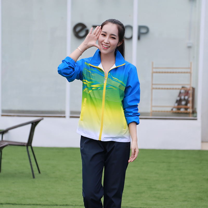 6699 Spring And Autumn School Uniform Couples Students WOMEN'S Dress Athletic Clothing Set Long Sleeve Long MEN'S Sport Suit