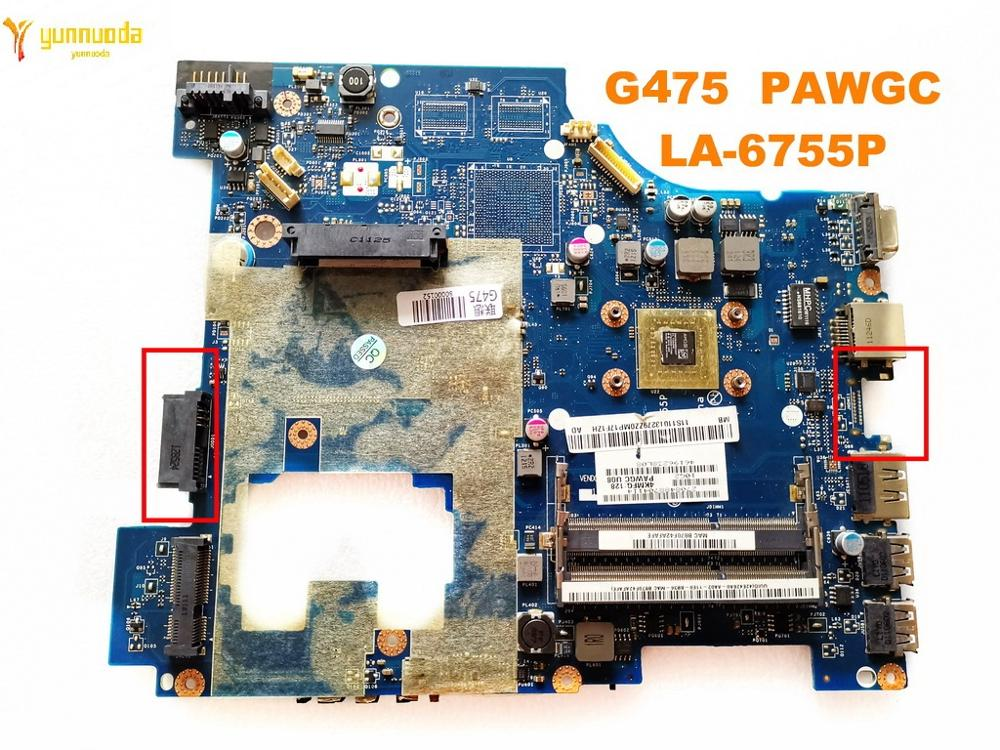 Original For Lenovo G475 Laptop Motherboard G475  PAWGC  LA-6755P Tested Good Free Shipping