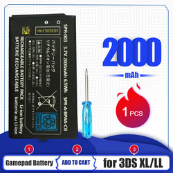 NEW 2000mAh Battery For Nintendo 3DS LL/XL 3.7V Rechargeable Lithium-ion Battery Pack + Tool Pack Kit Screwdriver Replacement