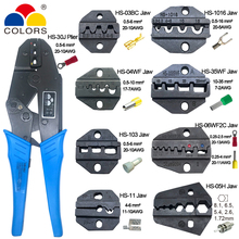 crimping pliers HS-30J 8 jaws set plug/tube/insulation/Non-insulated terminals crimper plier alicate hand tool kit clamp tools 150pcs non insulated tab receptacle terminals crimper crimping plier assortment tool set kit
