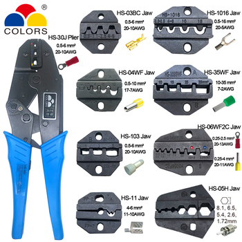 цена на crimping pliers HS-30J 8 jaws set plug/tube/insulation/Non-insulated terminals crimper plier alicate hand tool kit clamp tools