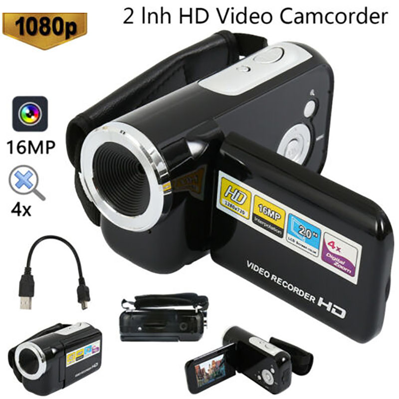 1080 Video Camera16MP Digital Video Camera Camcorder 4x Digital Zoom Handheld Digital Cameras TFT LCD Camcorder