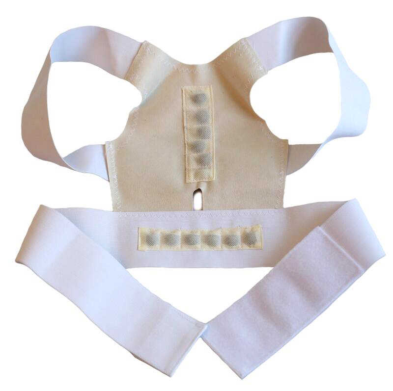 Corsé ortopédico ajustable Corrector postura columna apoyo cinturón de hombro Lumbar vendaje de correción corsé para las mujeres de los hombres 7