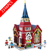 New City Series Toys Union Church Compatible Lepinzk City Brick4 2001 Building Blocks Toys for Children Birthday Christmas Gift 2020 new city police station bela compatible lepining city 60141 60047 60140 building blocks toys for children birthday gift