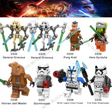 Single Sale Star Wars Pong Krell Hera Syndulla Ithorian Jedi Master/Noga-Ta Clone Trooper First Order Snowtrooper Building Block(China)