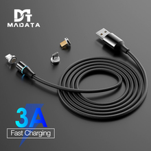 MADATA 3A Magnetic Cable 1M 2M Micro usb Type C Super Fast Charging Phone Microusb Magnet Charger c For iphone huawei xiaomi