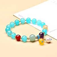 jinzeyi Original design natural stone bracelet for grils fashion retro pendant ball shape Transfer bead bracelet female jewelry