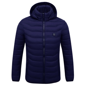 Puimentiua Mens Women Heated Outdoor Parka Coat USB Electric Battery Heating Hooded Jackets Warm Winter Thermal Jacket 4