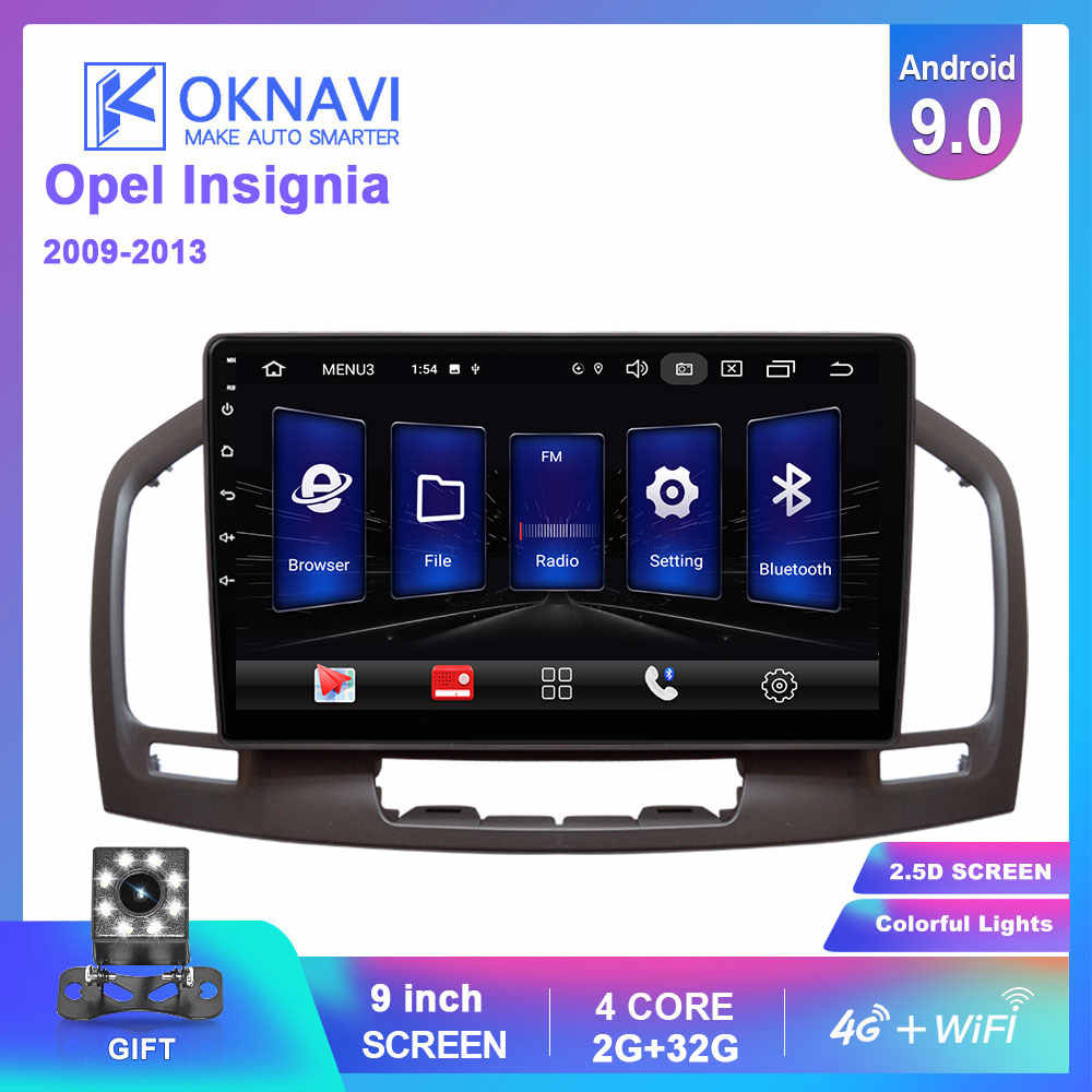 OKNAVI Car Multimedia Video Player Android 9.0 Per Buick Regal Per Opel Insignia 2009-2013 Radio Stereo GPS di Navigazione 4G WIFI
