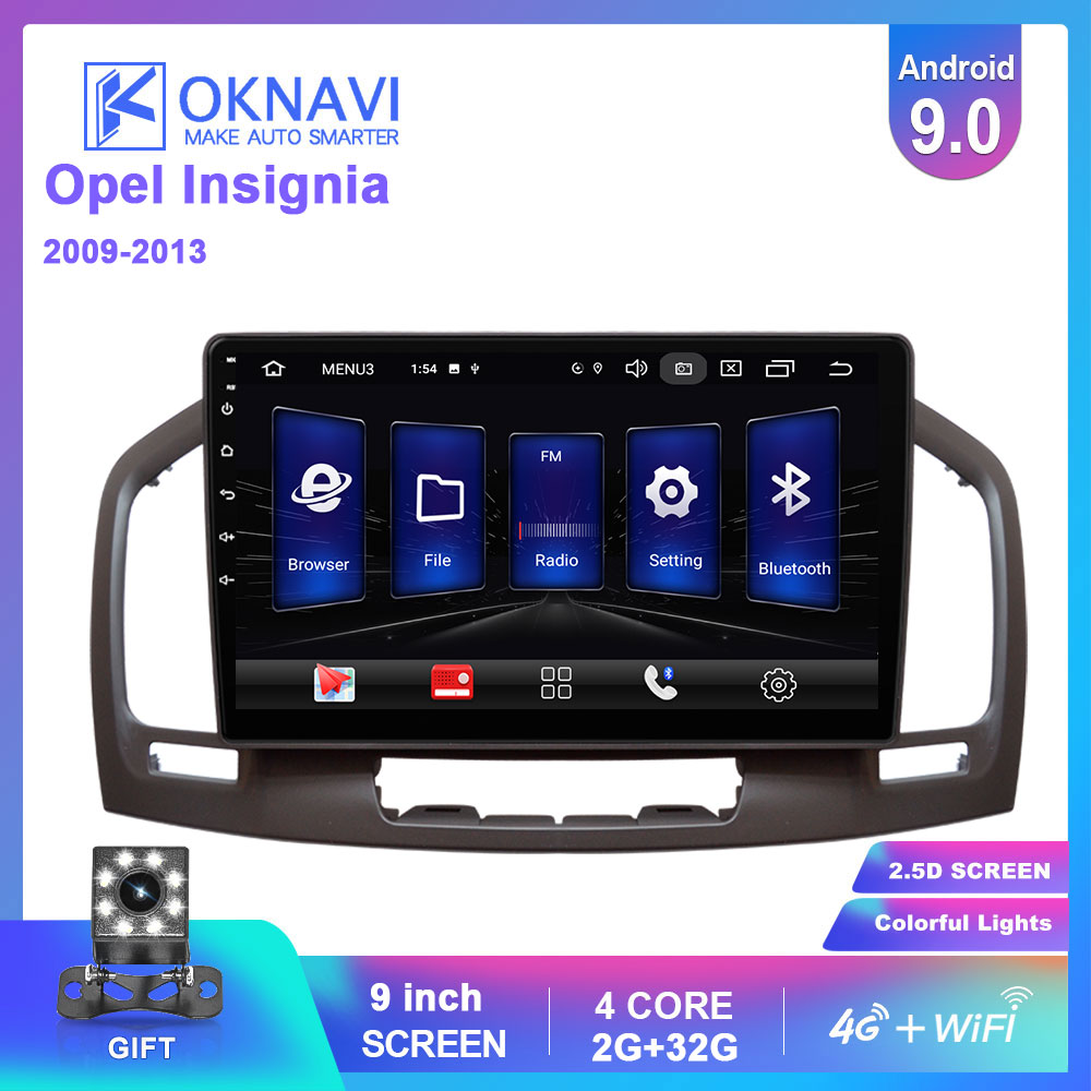 OKNAVI Car Multimedia Video Player Android 9.0 For Buick Regal For Opel Insignia 2009-2013 Radio GPS Stereo Navigation 4G WIFI