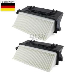 AP02 Par Left & Right do Filtro de Ar Para Mercedes Benz OM642 S350 ML350 ML300 GL320 GL350 E350 E300 C350 C300 4 CDI 4matic
