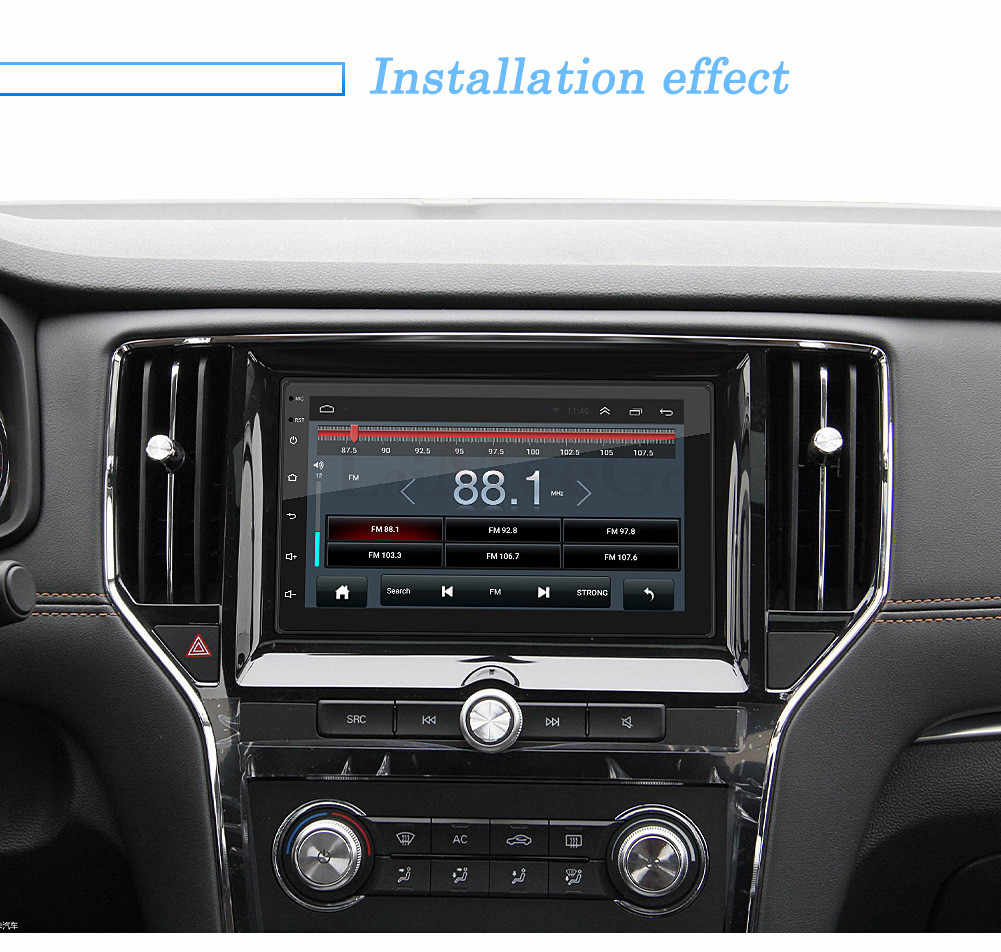 "2din Auto Multimedia Speler 7 ""Android Auto Stereo Radio Gps Wifi Autoradio Bluetooth Mirrorlink Tape Recorder Auto Monitor Camera"