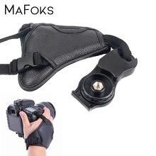 Ремешок для камеры из ПУ кожи, наручный ремень для Nikon, Canon, Sony, Pentax, DSLR, аксессуары для фотостудии