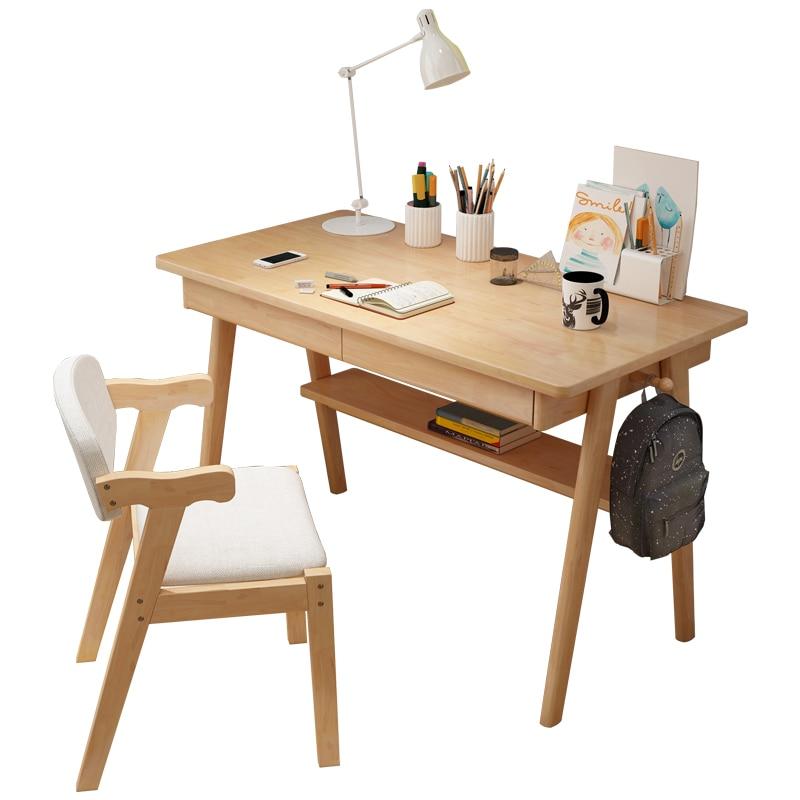 Solid Wood Desk Simple Home Desktop Computer Desk Bedroom Student Desk Modern Nordic Desk Study Table