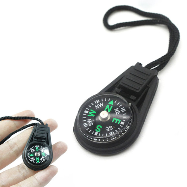 Mini Compass Survival Kit with Keychain for Outdoor Camping Hiking Hunting 1