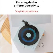 Vinyl Record Player Speakers Bluetooth Bluetooth Aux Waterproof Wireless Convenience Mini Portable Speaker