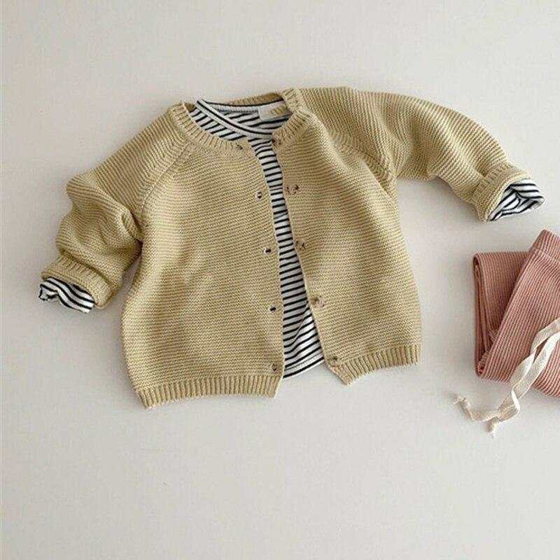 Autumn Kids Knitting Sweaters Newborn Baby Girls Boys Cardigan Baby Girl Sweater Knitting Jacket Coat Toddler Baby Girls Tops 6