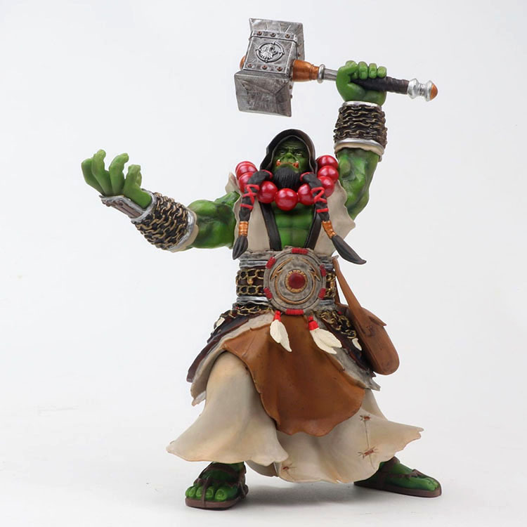 20cm DC WOW Thrall The Orc Shamman Figure Toys Thrall The Orc Shamman Statue Doll PVC ACGN Figure Collectible Model Toy