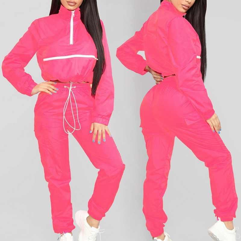 HEFLASHOR классический спортивный костюм Patchwrok комплект из двух предметов Женская зимняя спортивная толстовка на молнии + карандаш бегущий спортивный комплект