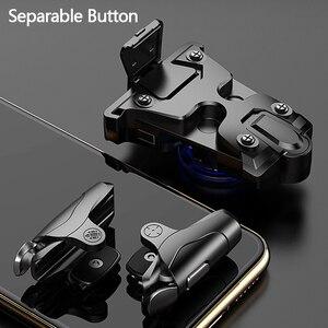 Image 2 - Mobiele Gamepad Legering Joystick Smartphone Gaming Controller Voor Iphone Android Pubg Gamepad Shooter Trigger Knop Controle Handvat