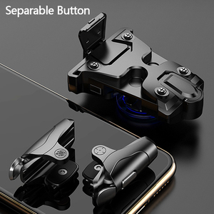 Image 2 - Mobile Gamepad Alloy Joystick Smartphone Gaming Controller For Iphone Android PUBG Gamepad Shooter Trigger Button Control Handle