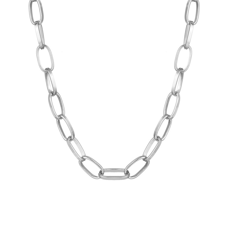 Fashion Link Chain Necklace Women Collar Statement Gold Thick Choker Necklaces For Women on Neck Fashion Punk Jewelry