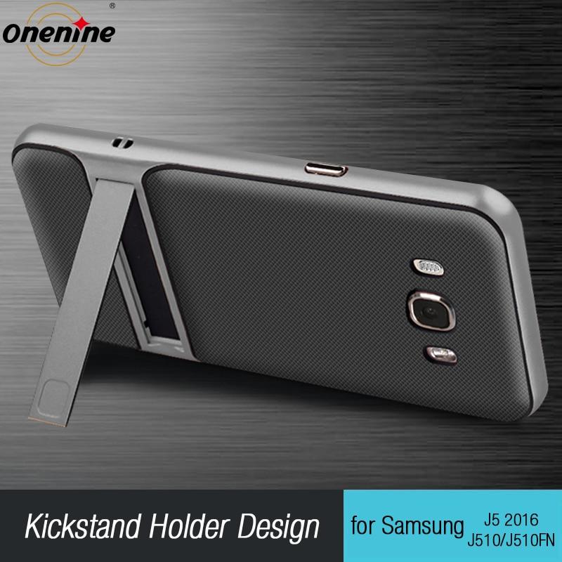 """Луксозни калъфи за обратно обръщане на телефон за Samsung Galaxy J5 2016 Cover 5.2 """"TPU + PC силиконов хибрид Funda за Samsung J510 Carcasa Coque Armor"""