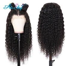 Peluca de ondas profundas peruanas con encaje Frontal, pelucas de cabello humano para mujeres negras, cabello Remy rizado, pelucas de cabello humano hd con encaje frontal