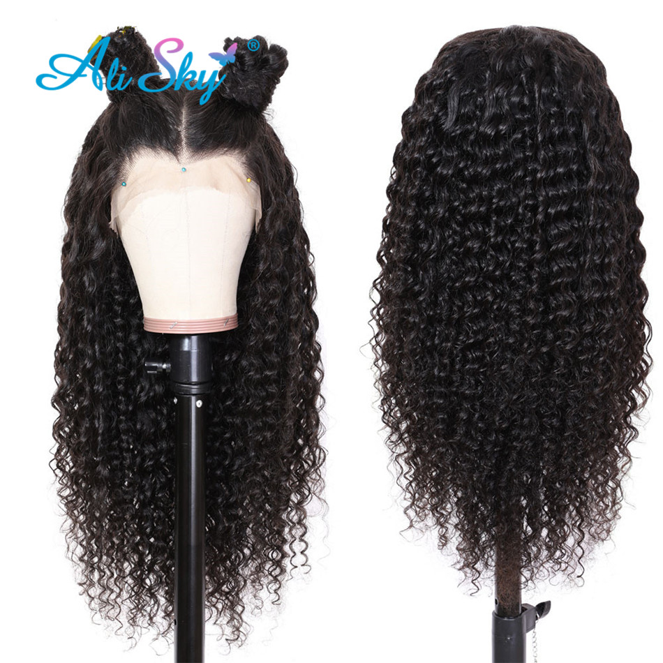 Peruvian Deep Wave Wig With Frontal Lace Front Human Hair Wigs For Black Women Remy Hair Curly Human Hair Wigs Hd Lace Frontal