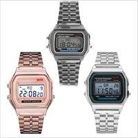 Reloj de correa de acero F91W para mujer, Digital, LED, Vintage, deportivo, militar, electrónico, regalo de San Valentín