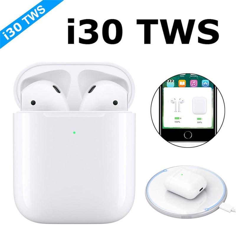 2019 New I30 TWS POP UP I30 Tws Wireless Earphone Bluetooth 5.0 Earphones Touch Earbuds Not W1 Chip I9s I10 I12 I60 I80 I100 Tws
