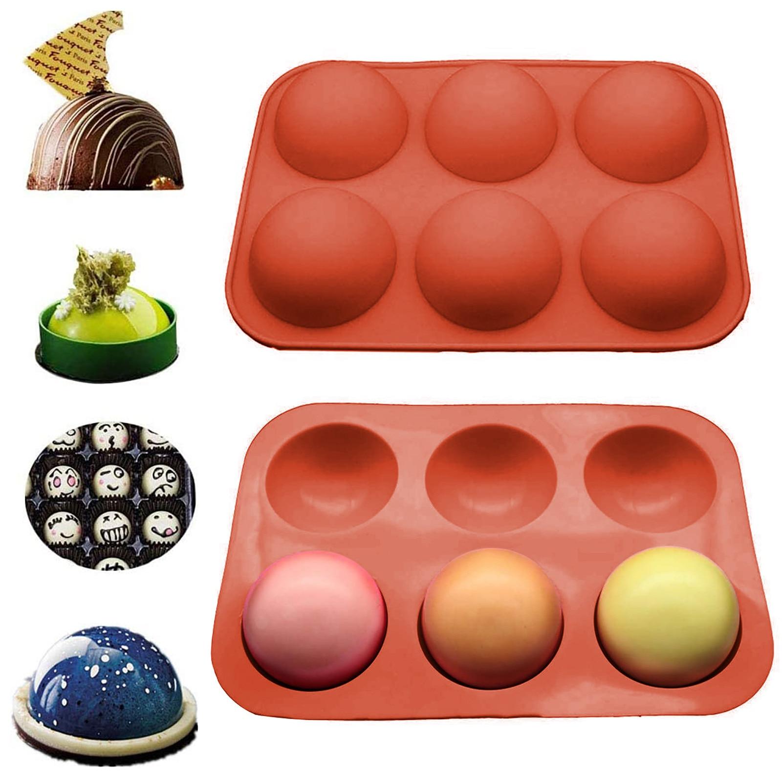 1 шт. полушариковая Сфера, силиконовая форма для торта, форма для маффинов, шоколада, силиконовая форма для печенья, форма для выпечки, сковор...