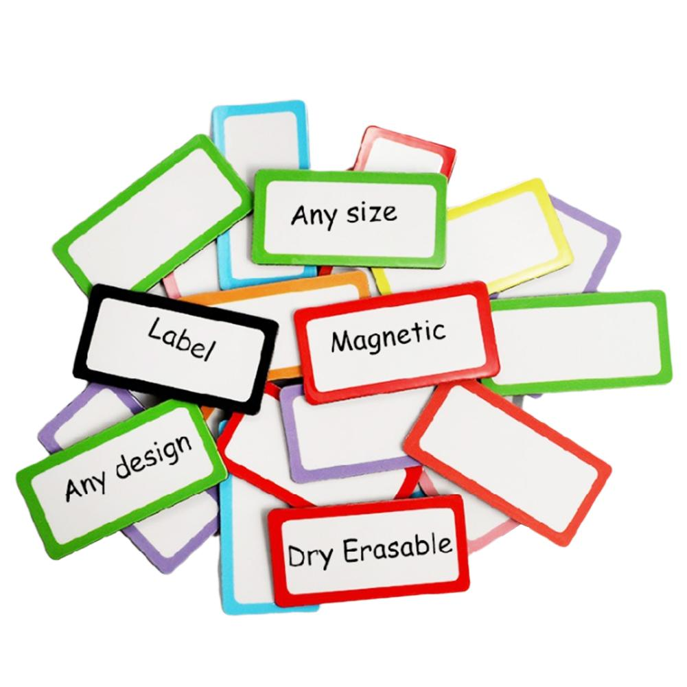 40 Pieces Magnetic Dry Erasable Labels 80x30mm Name Plate Writable Flexible Magnet Name Tags Sticky Labels And Stickers