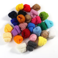 Knitting Mini Pompon Hats DIY Craft Supplie Headwear Brooch Crochet Toys Decor Jewelry Accessory Small Caps Components(China)