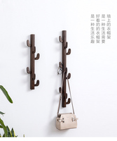 Tree shaped clothes and hats rack for solid wood furniture wall hanger simple wall hanging branch coat hanger shelf