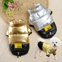 Coat Outfit Dogs Clothes French Bulldog Bling Pet-Clothing Wadded-Jackets Small Winter