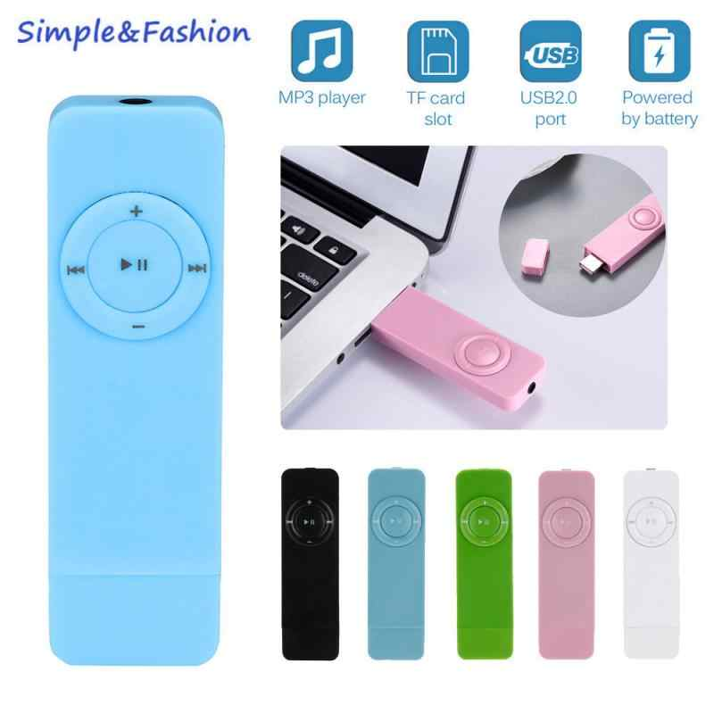 Mini portátil mp3 player de música usb in-line sportantiwater lossless som música media player suporte micro tf jogador de cartão walkman