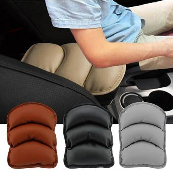 The New Stylish Soft Faux Leather Universal Auto Car Center Console Box Armrest Cushion Pad Automobiles Seat Covers image