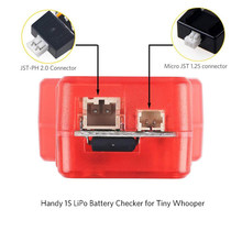 Hot 2.5-4.35V 1S Battery Voltage Meter Capacity Tester LiFe LiPo LiHv Checker Gauge Voltmeter Fr FPV RC Drone Whooper(China)