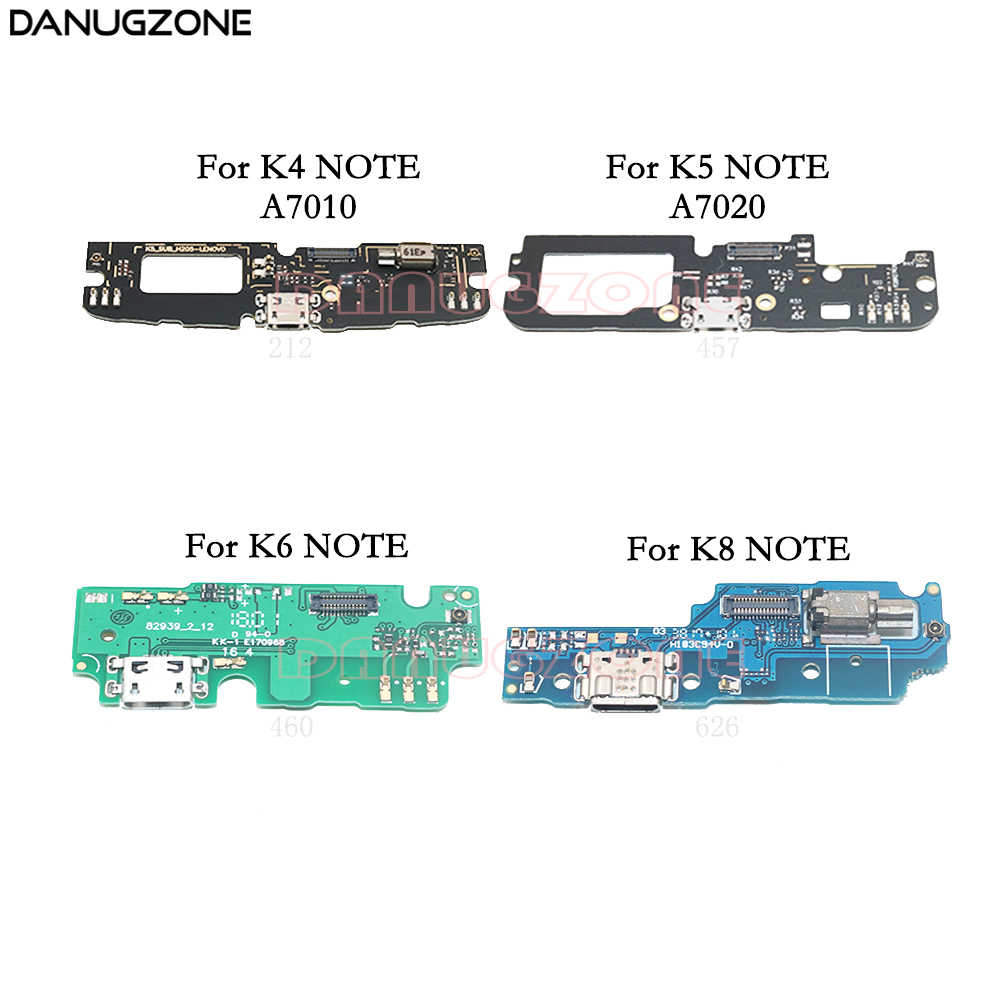 USB Charging Dock Jack Socket Connector Charge Board Flex Cable For Lenovo K4 Note K51C78 A7010 / K5 NOTE A7020 / K6 NOTE K8NOTE