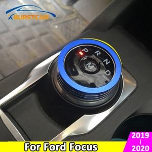 For Ford Focus 4 MK4 2019 2020 Aluminum Alloy Car Shift Knob Cover Interior Gear Head Knob Circle Cover Trim Accessories