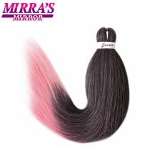 Mirra der Spiegel 8 stücke Schwarz Rosa Einfach Jumbo Braid Haar Pre Gestreckt Flechten Haar Ombre Synthetische Haar Extensions