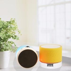 Image 5 - Bluetooth Speaker Mini Wireless Loudspeaker Crack LED TF Card USB Subwoofer Portable MP3 Music Sound Column for PC Mobile Phone