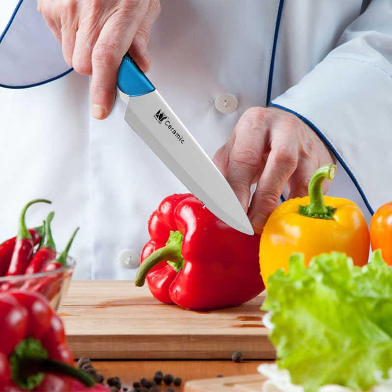 XYJ 6 Pcs Pisau Dapur Keramik Set Memotong Sayuran Papan 6 ''Chef Cm Mengiris 4'' Utility 3.5 ''Pisau Pengupas Gratis Selimut