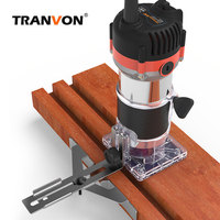 Recortador de bordes laminado eléctrico, enrutador de madera, laminador para carpintería, máquina de corte para talla, herramienta eléctrica de 720W