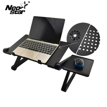 Aluminium Legierung Einstellbare Laptop Stand Laptop Schreibtisch Bett Stehend Notebook Stand Mit Lüfter Maus Bord Für Bett Sofa Tablett